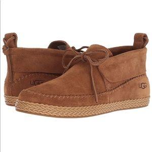 UGG Woodlyn Moc Suede Fashion Boot, Chestnut